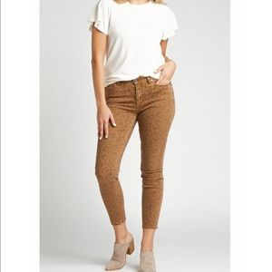 Silver Jeans Most Wanted Leopard Skinny Leg Jeans